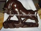 mahogany wood moo-cow wooden carving craft