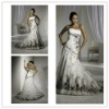 2013 sleeveless black and white wedding dresses