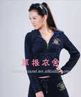 women fashion colorful cotton velour tracksuits with cheap velour tracksuit
