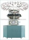 computerized jacquard circular knitting machine for plush textile machinery