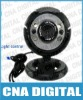 Free Shipping Plug and play computer Web Camera USB 6 LED Webcam w/Mic Digital Camera,usb webcam,pc webcam