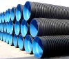 HDPE black plastic draining corrugated pipe