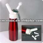 500ml Aluminum cream whipper with plastic lid