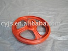 red high pressure casting iron operated valve handwheel