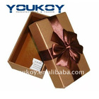 small gift packing paper box with silk ribbon(YK9904)