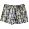 Checked Short Cotton Pants