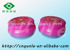 two-piece colourful seamless round candle tin jar box
