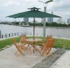 HJ PS Imitation wooden outdoor Table and Chair