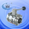 Sanitary 3 pc butterfly valve