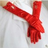2012 Red white wedding gloves
