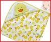 Yellow Cartoon Duck Model Kids Bathrobes