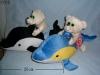 dolphin with bear set toys
