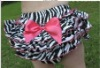 wholesale zebra ruffle satin bloomers