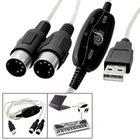 6FT USB to MIDI keyboard interface converter adapter cable