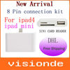 Hot New Arrival 3 in 1 Card Reader USB Camera Connection Kit For IPAD4 IPAD MINI