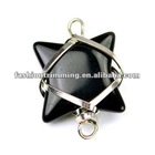Black glass starshine shaped pendants