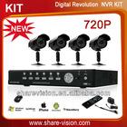 720P net surveillance complete ip cameras nvr kits camera de surveillance