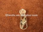 Gold metal zipper slider