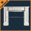 Indoor White Stone Fireplace Mantel