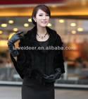 new fashion mink fur hand knitted shawl