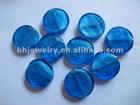 flat round murano beads 40mm