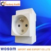 French style din rail socket concrete socket