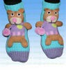 3D Knitted home non-skid or non-slip animal acrylic socks