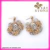 Novelty christmas earrings gold&silver daily wear earrings for OL