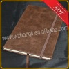 cheaper brown diary with elastic band