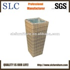 6mm Half Round Wicker Flower Vase (SC-01675-2)