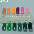 R.S NAIL nail gel polish color chart 289-300