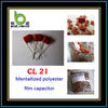 CL21 250V 104J (Film capacitor cl21 red metallized polyester film ISO9001 approved)