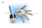 Electric lock cylinder crescent key
