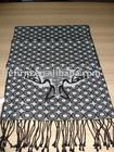Fashion logo silk scarf