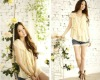 2012 hot sell new stytle fashion and charming short sleeve round collar blouse dress