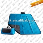 Blue travel blanket,fleece picnic rug