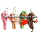 mini handicraft fabric string voodoo doll black,little dolls
