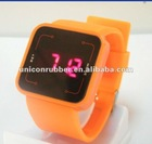 2012 fashion touch screen silicone LED watch