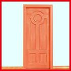 Solid wood door design