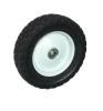 8X1.75 Diamond Tread Semi-Pneumatic Wheel with 12.7 Bearing Bore and Steel Hub