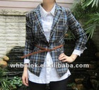 2012 autumn design of ladies suits check wool