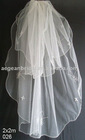 wedding veils/two layers bride veils/american net beaded veils 026
