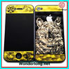 Gold Tiger New arrival 3D Clear front+back Protector Quard Film for Iphone 4, 4S