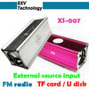 XS-007 portable memory card speakers with FM Radio U Disk External Source Input