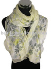 Yellow fashion georgette silk scarf