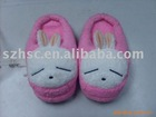 cute plush rabbit slippers