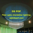 Multicolor, with crystal, PMMA optic fiber chandelier lighting