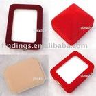 Jewelry pendant box, fluffy, cream-colored, hexagon, 100x70x35mm, sold per pc, JS0416
