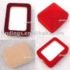 Jewelry pendant box, fluffy, cream-colored, hexagon, 100x70x35mm, sold per pc, JS0416