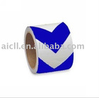 Blue and White Reflective Warning Adhesive Tape